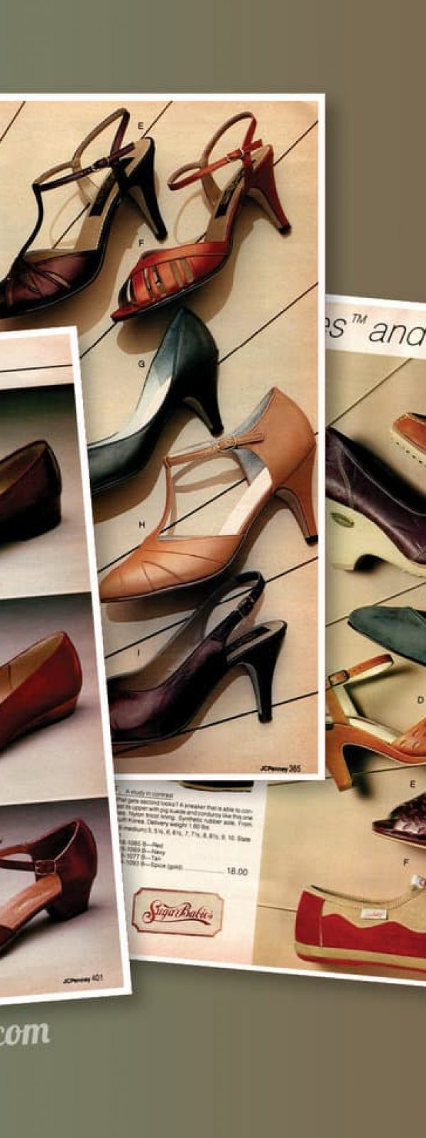 3d1b128860 Trendy '80s women's shoes from the 1983 JC Penney catalog - Click Americana