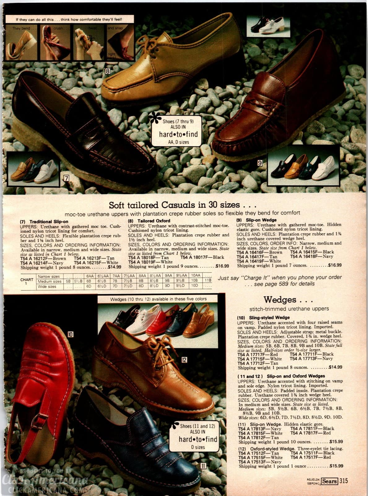 Shoes with moccasin toe urethane upppers and plantation crepe rubber soles from 1979