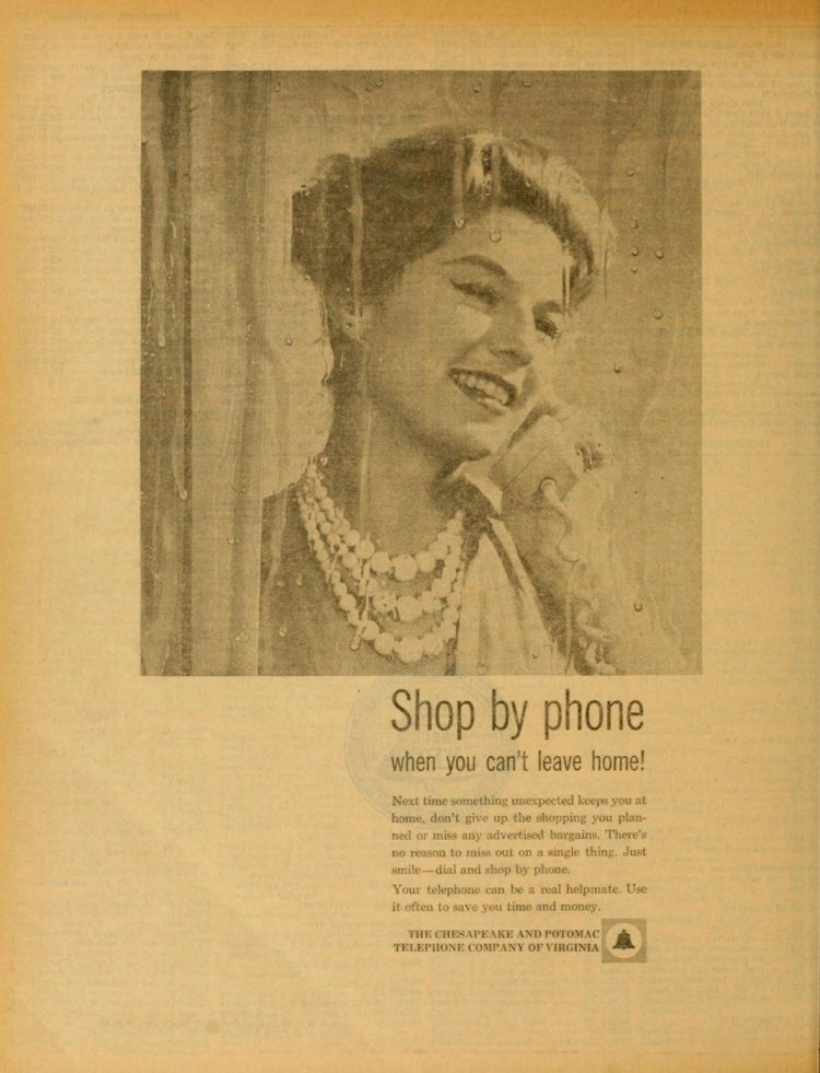 Shop by phone when you can't leave home - 1961