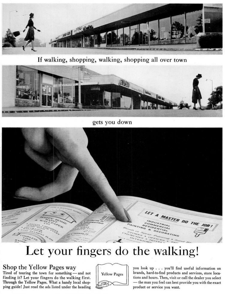 Shop the Yellow Pages way - 1962