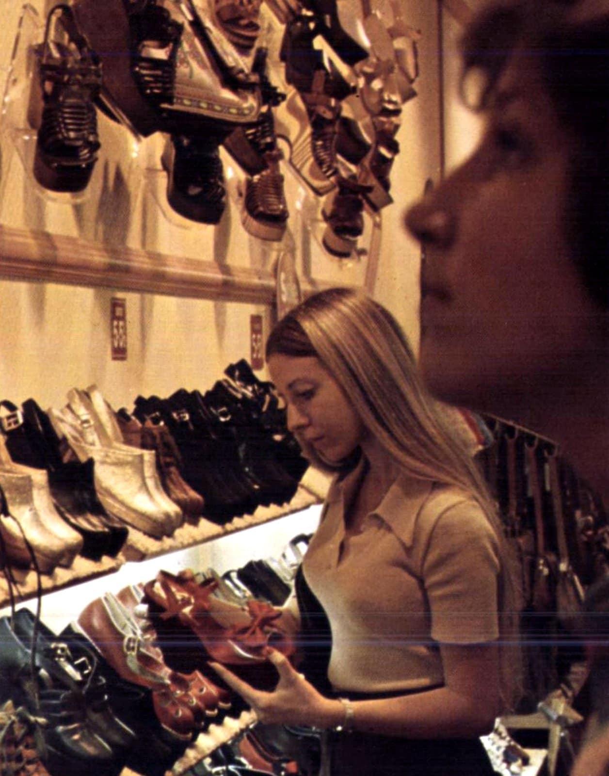 Shopping for women's shoes (1975)