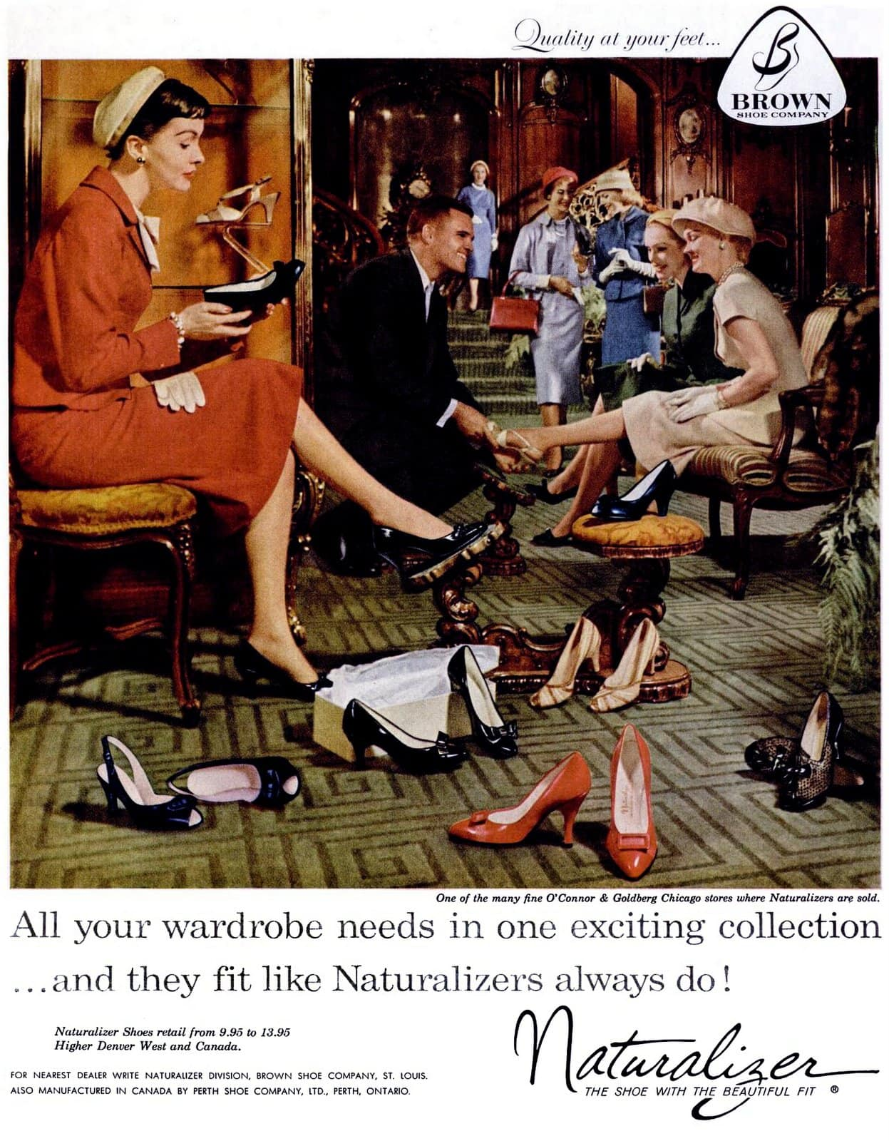 Shopping for women's shoes in 1958 - Naturalizer
