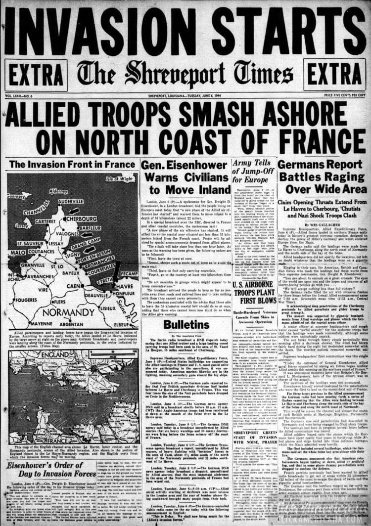 Invasion Starts - Allied Troops Smash Ashore on North Coast of France