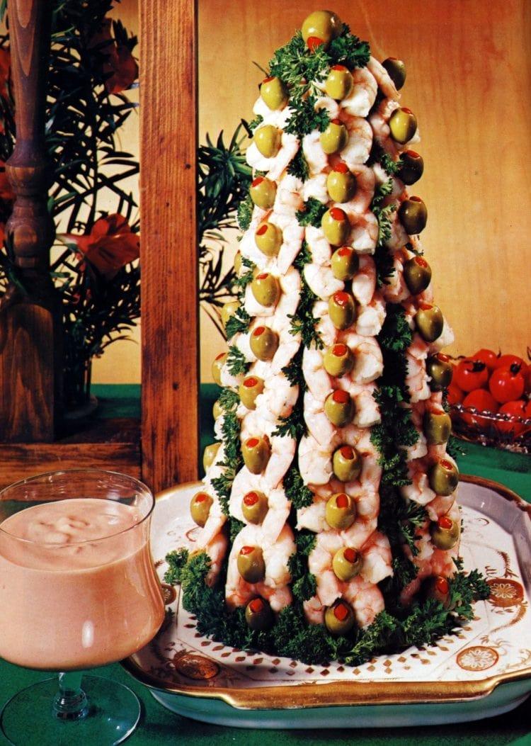Shrimp Christmas tree - Bon Appetit 1974
