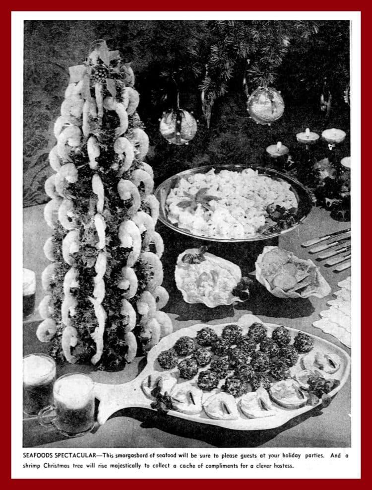 Shrimp Christmas tree from 1964
