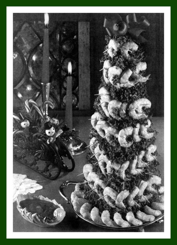 Shrimp Christmas tree from 1974