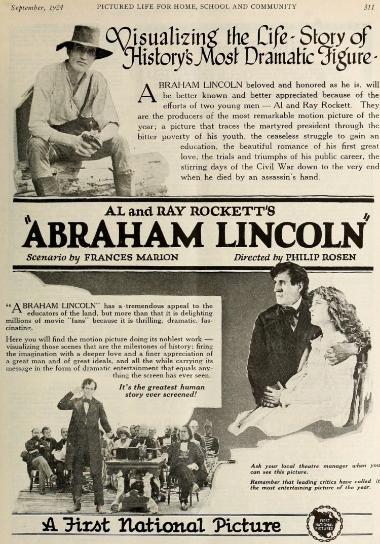 Silent film Dramatic Life of Abraham Lincoln 1924 (1)