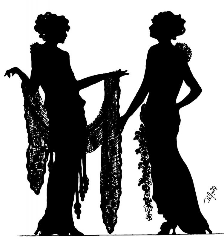 Silhouettes - portraits from the 1920s (1)