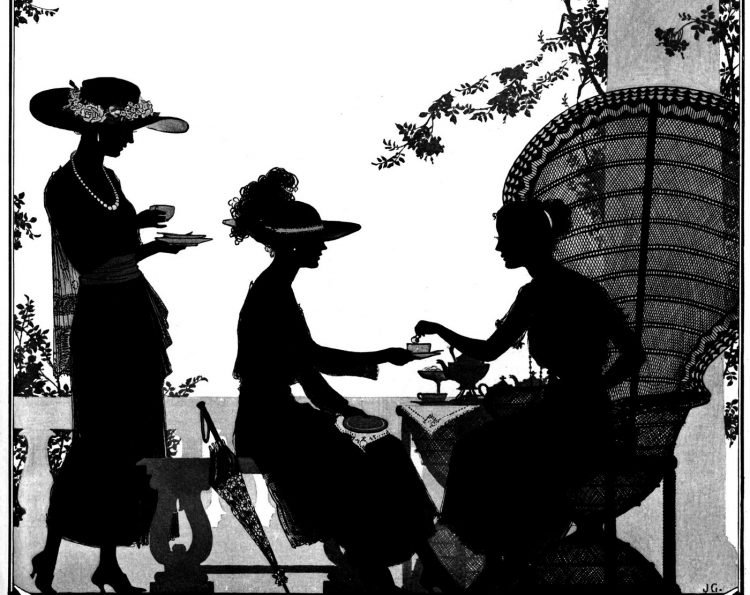 Silhouettes - portraits from the 1920s (10)