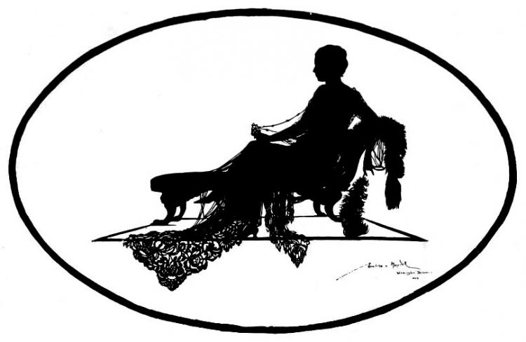 Silhouettes - portraits from the 1920s (3)