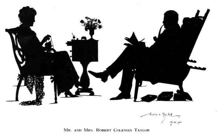 Silhouettes - portraits from the 1920s (5)