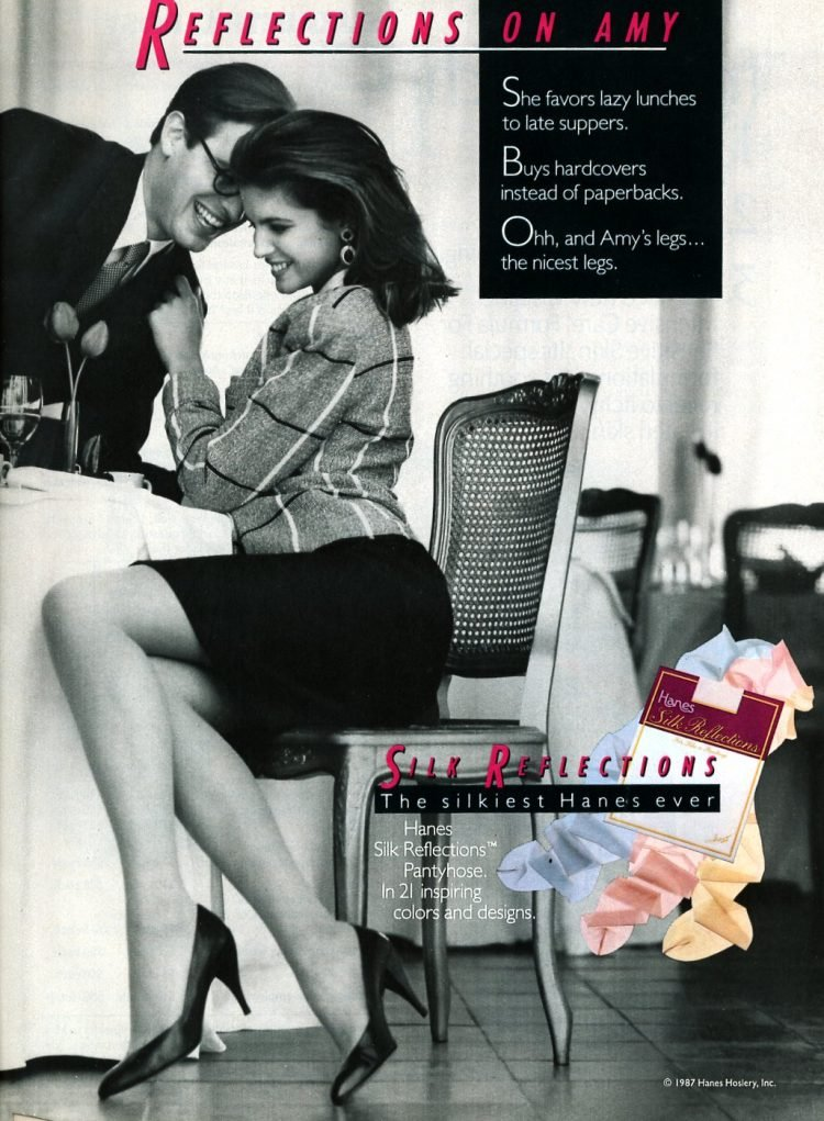 Silk Reflections pantyhose - nylons from 1987