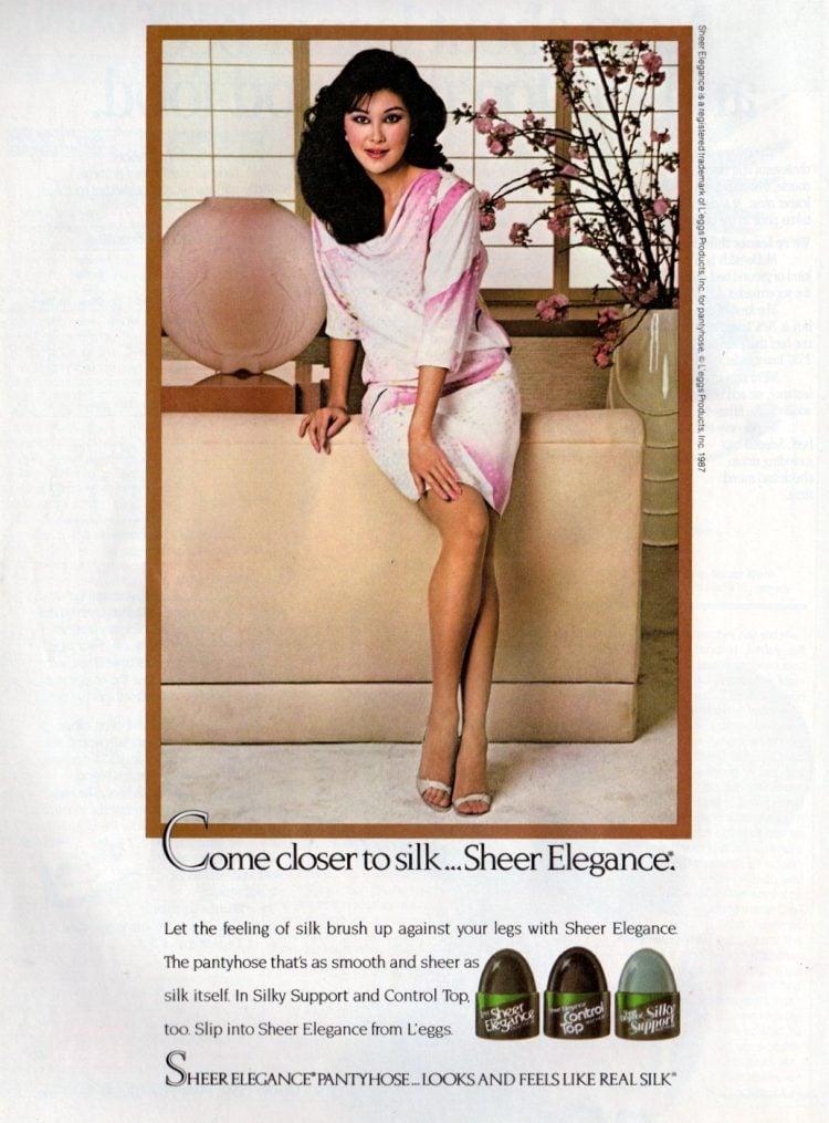 Silky Sheer Elegance pantyhose from 1987