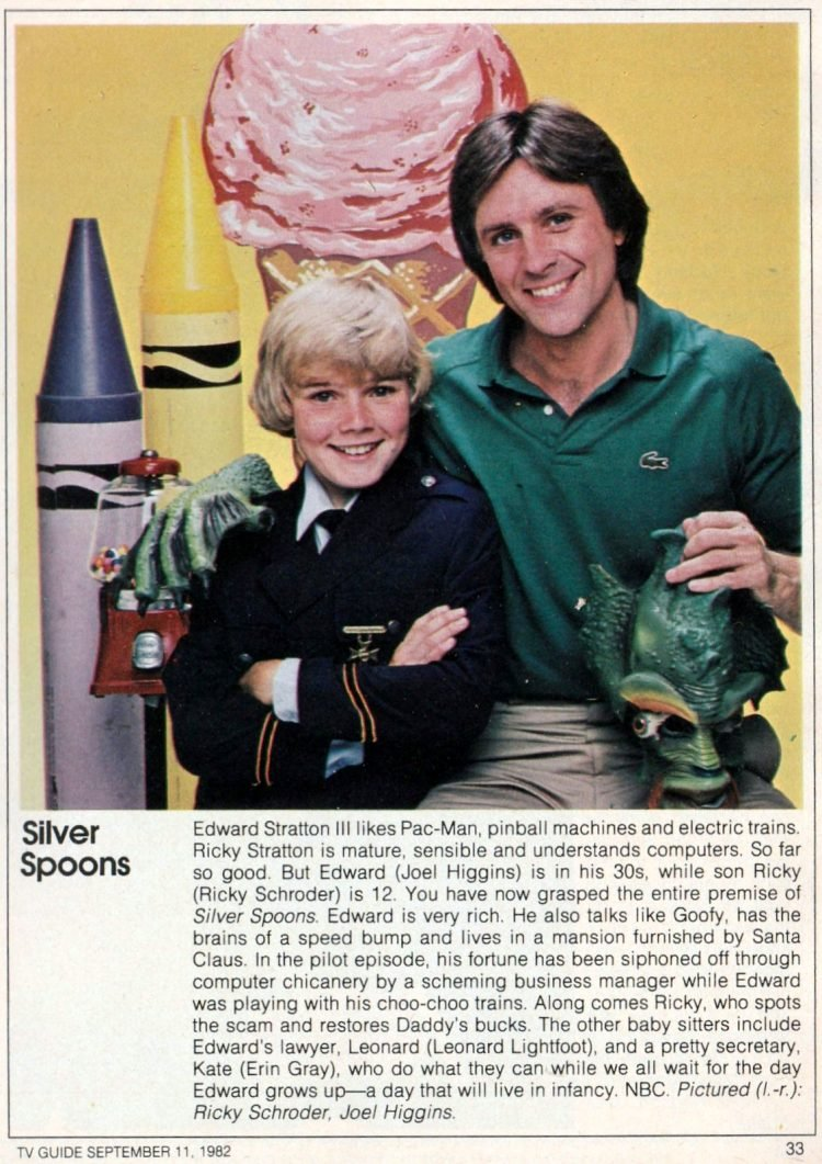 Silver Spoons TV Guide preview 1982