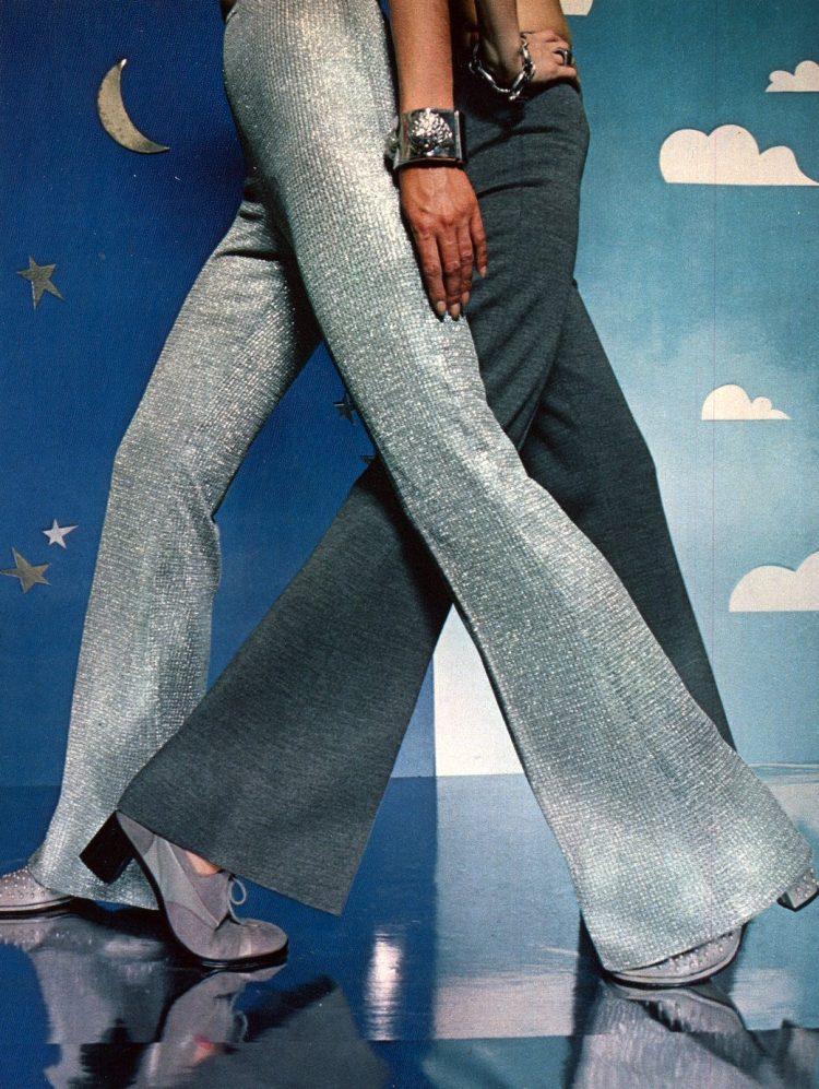 Silver disco dancing pants