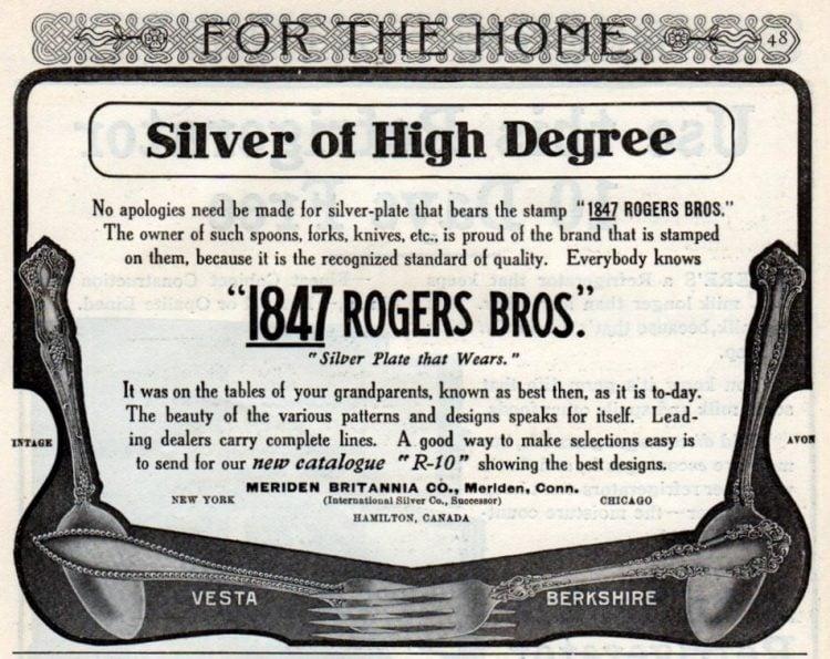Silver of high degree (1906) Vintage - Vesta - Berkshire - Avon