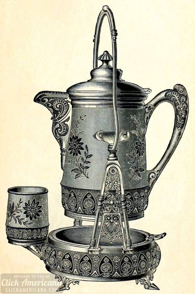 Silver-plated tilter water set from the Victorian era - 1889