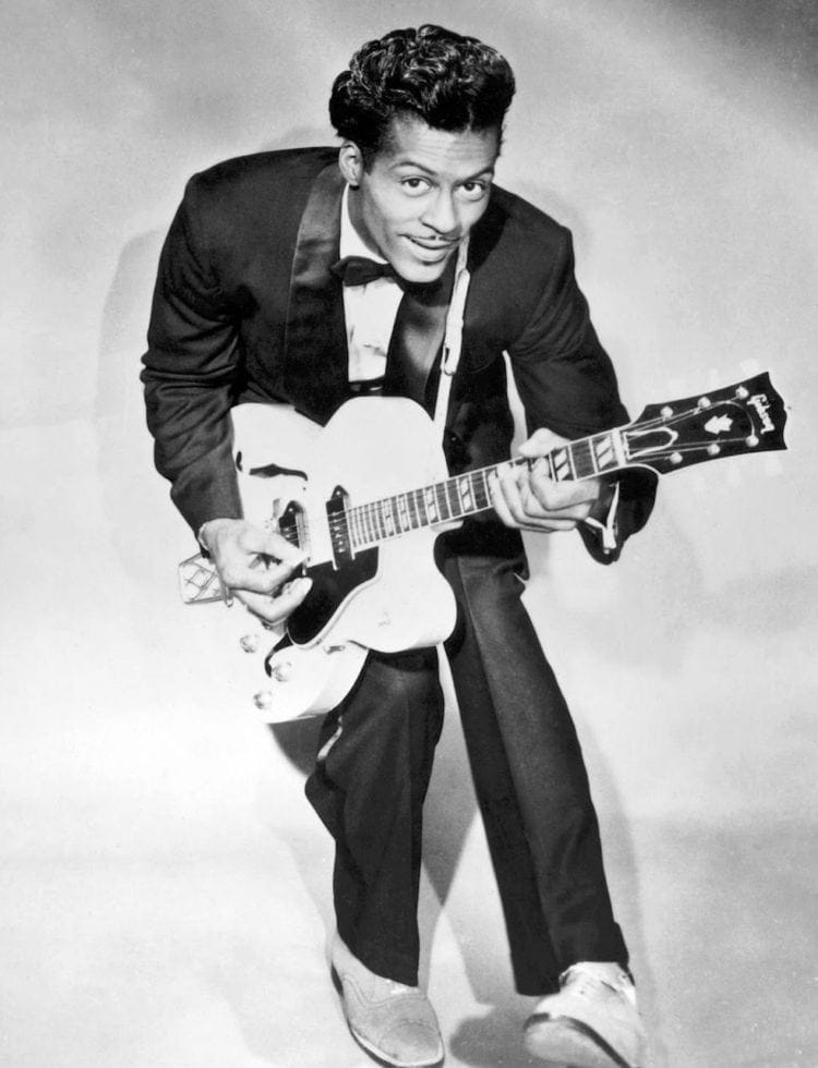 Singer-guitarist Chuck Berry in the 50s