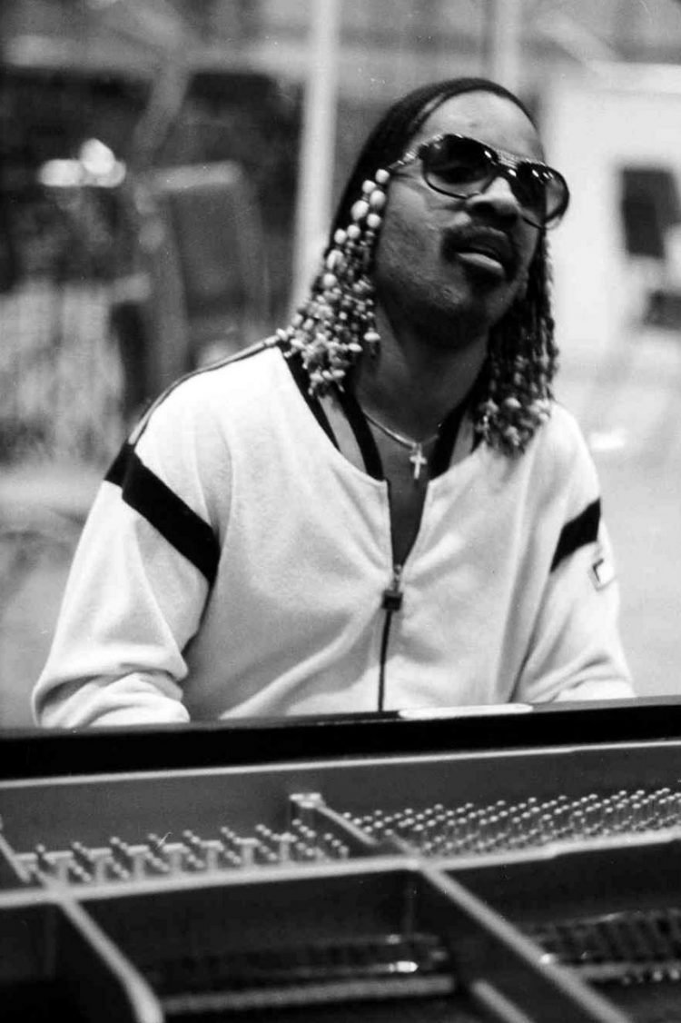 Singer musician Stevie Wonder at piano