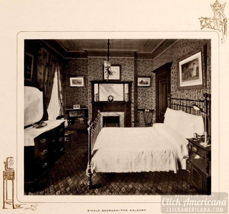 Single bedroom at the Waldorf Hotel - 1903 - Waldorf-Astoria