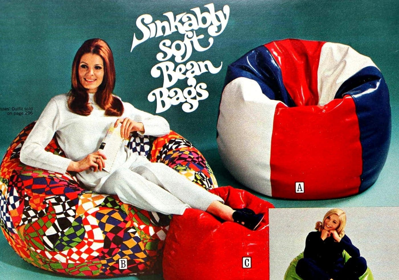 Vintage Beanbags Bean Bag Chairs The Retro 70s Casual Seating Fad Click Americana
