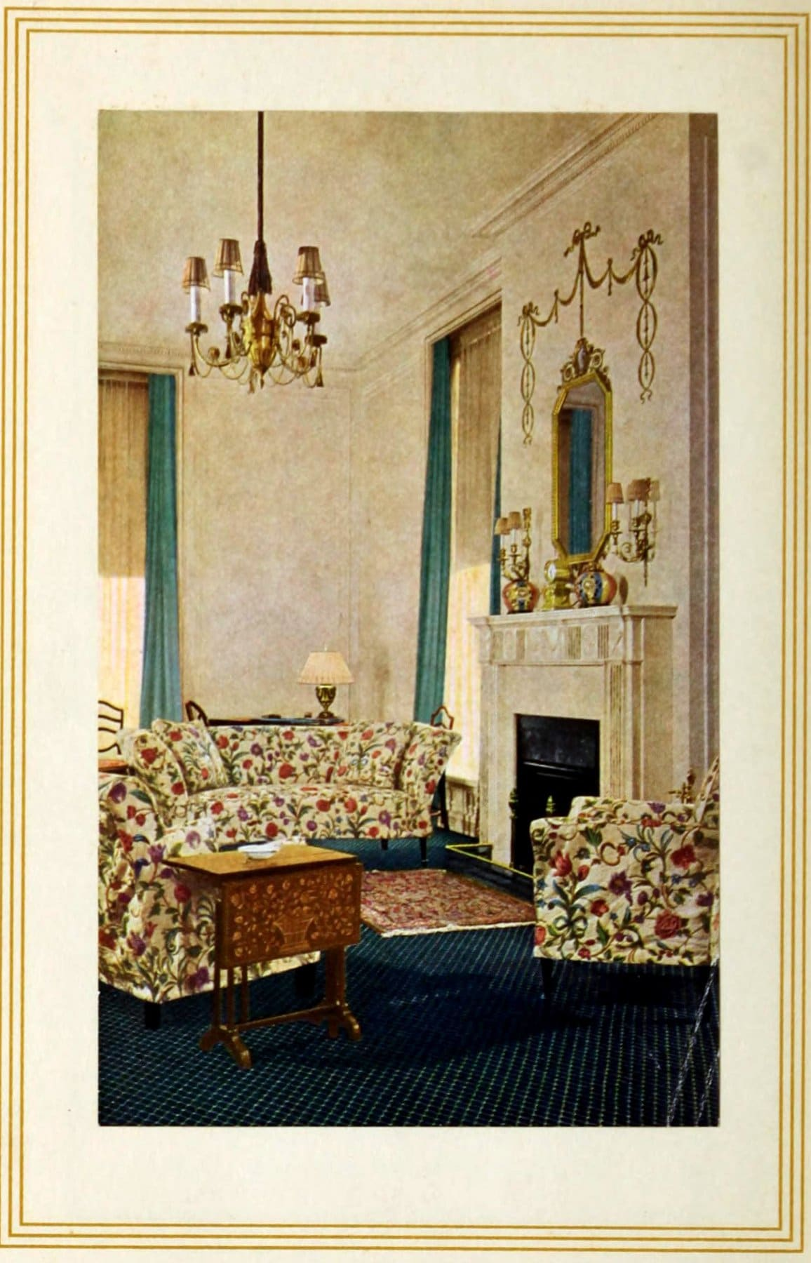 A guest room in the old Ritz-Carlton hotel in New York (1936)