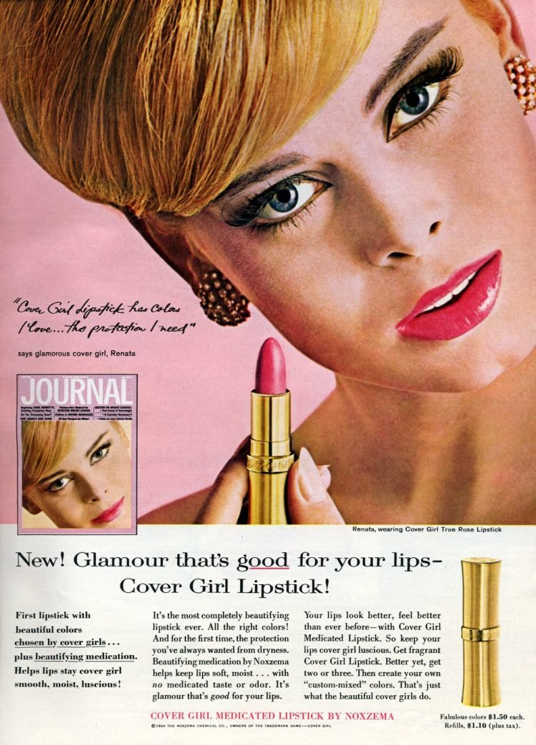 Sixties Cover Girl lipstick from 1964