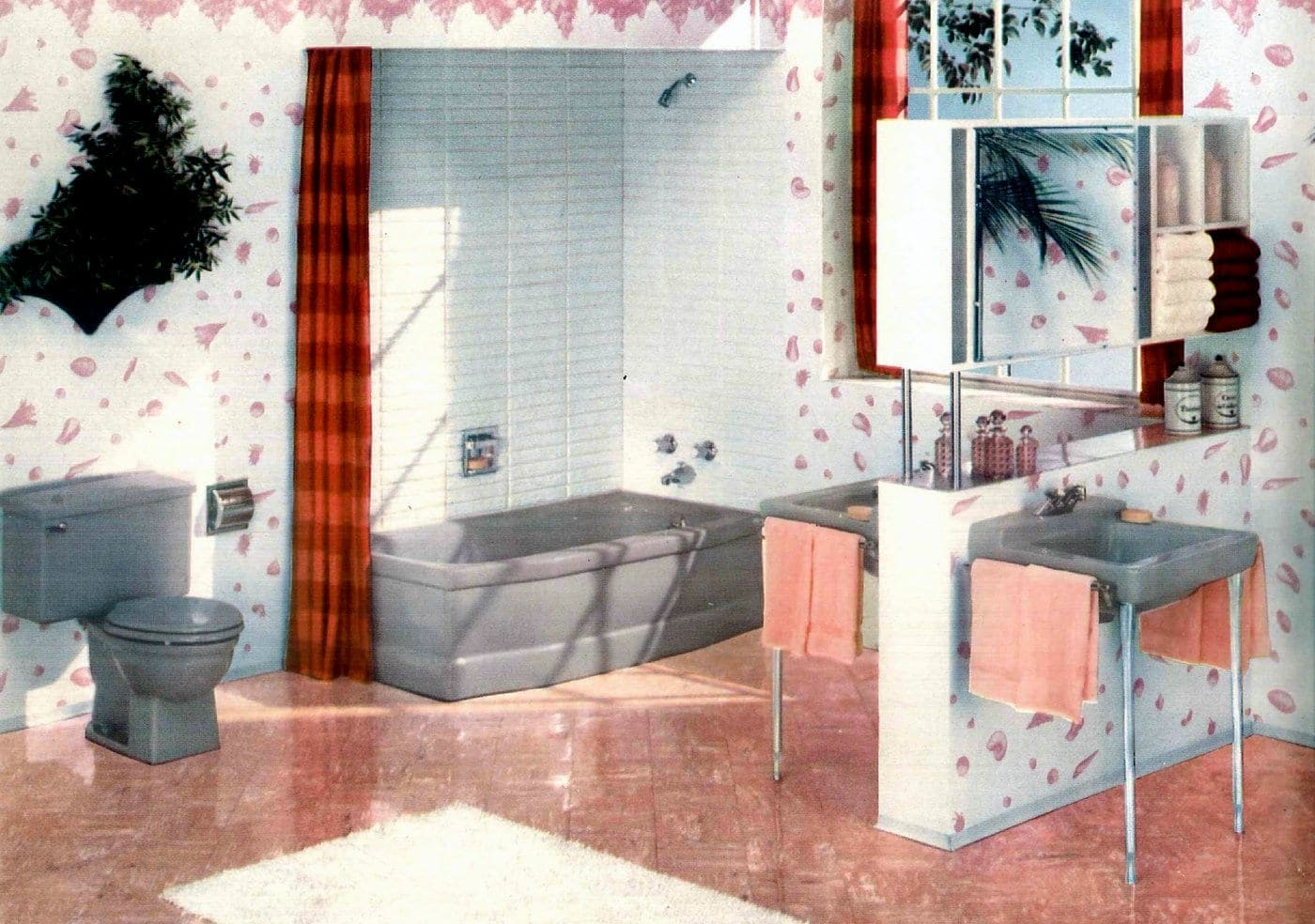 Sixties bathroom decorating ideas - 1960 (1)