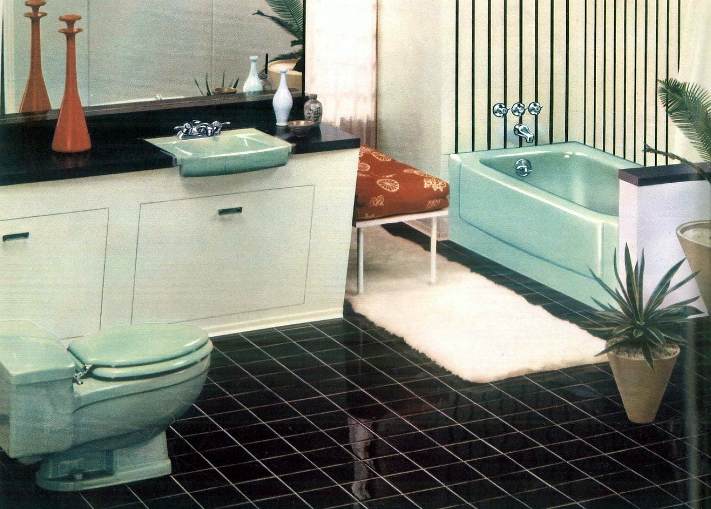 Sixties bathroom decorating ideas - 1960 (7)