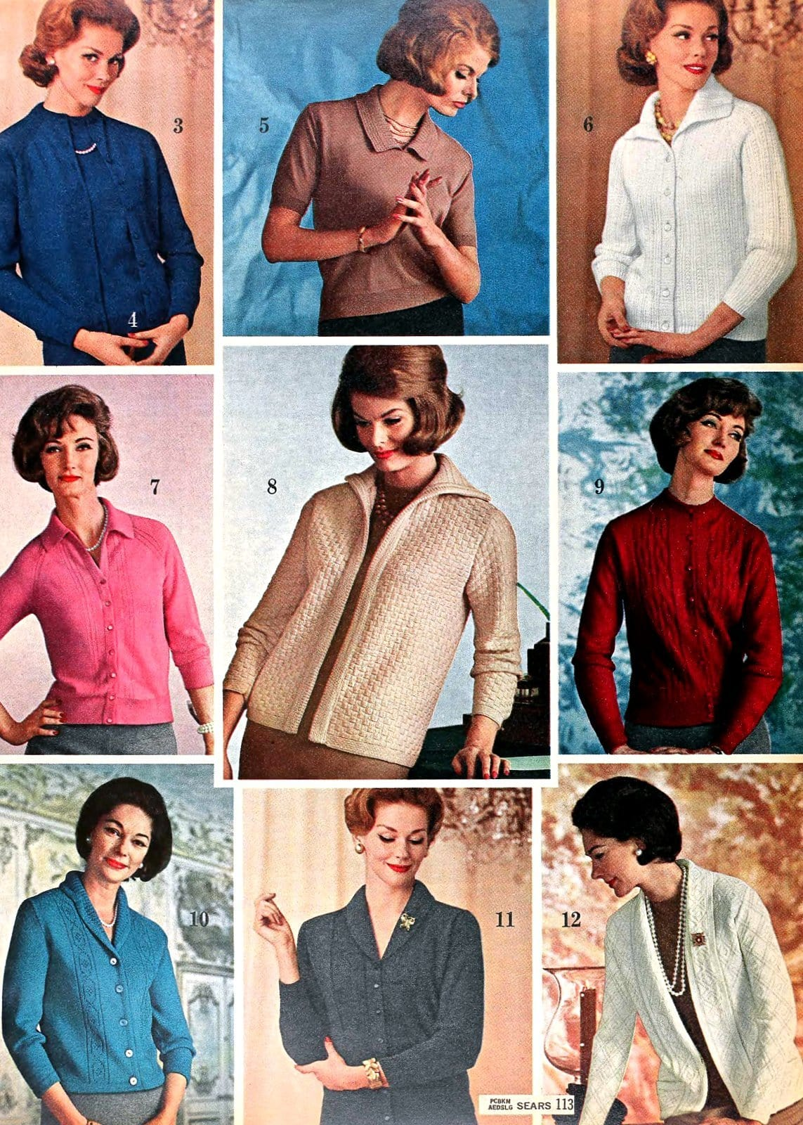 Sixties sweater styles from 1962 (1)