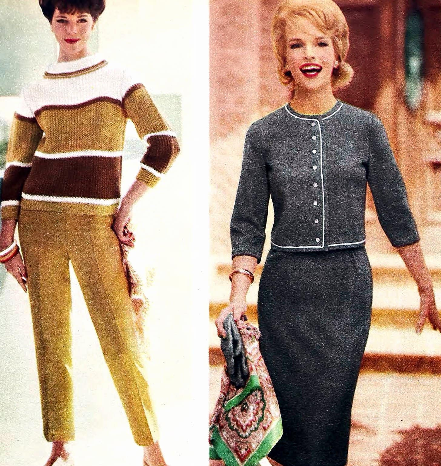 Sixties sweater styles from 1962 (3)