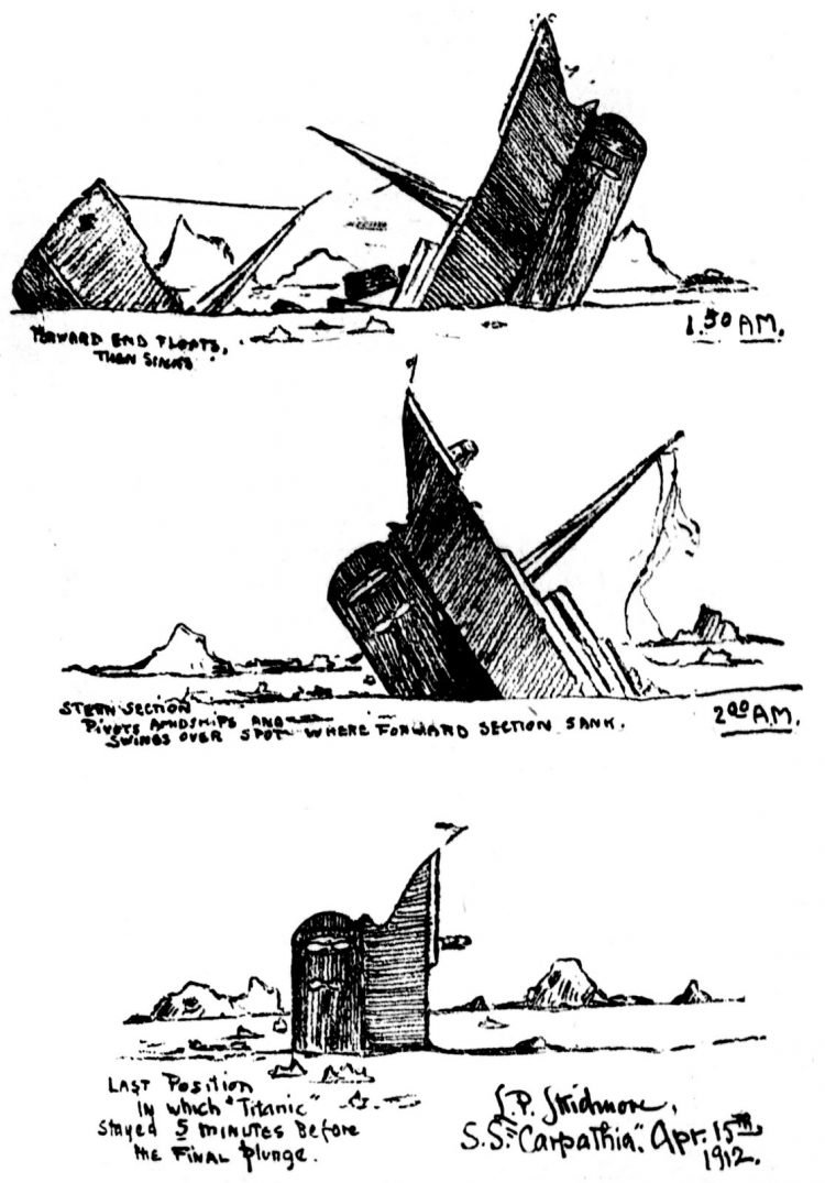 Sketches of the Titanic sinking from 1912 - Skidmore (2)