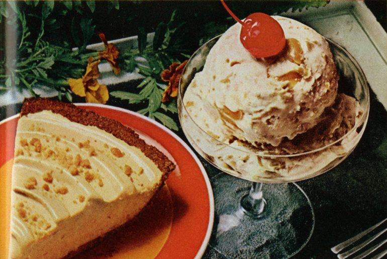 Skippy peanut butter ice cream - Vintage 70s recipe