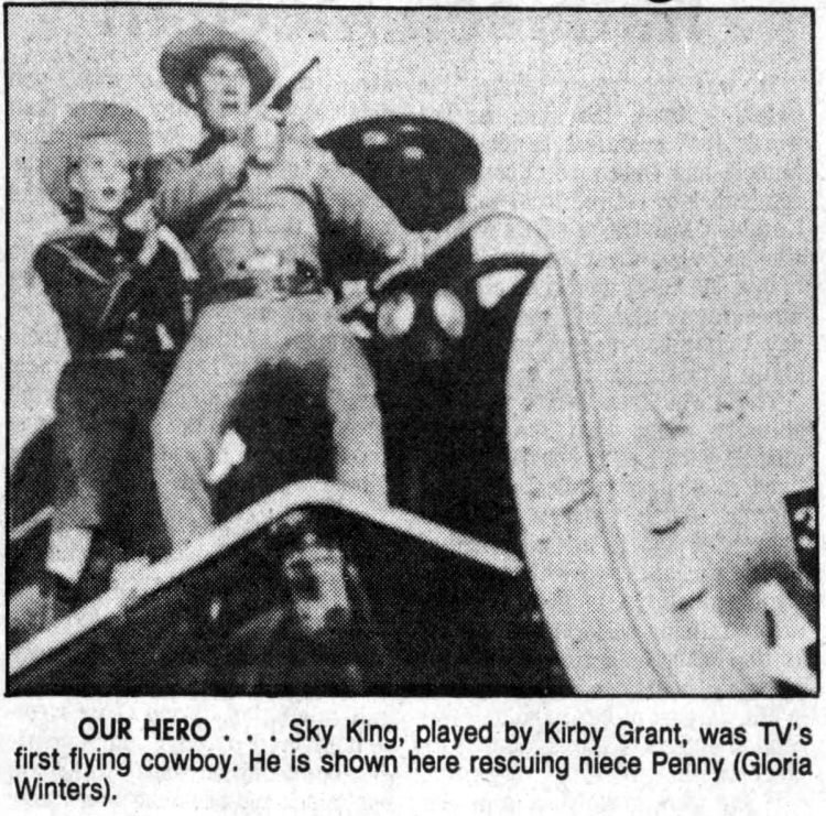 Sky King - Flying cowboy - vintage television Boomers