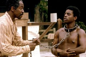 Louis Gossett Jr. (Fiddler) and LeVar Burton (Kunta Kinte)