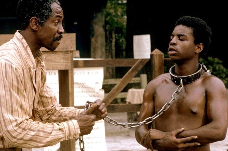 Louis Gossett Jr. (Fiddler) and LeVar Burton (Kunta Kinte)