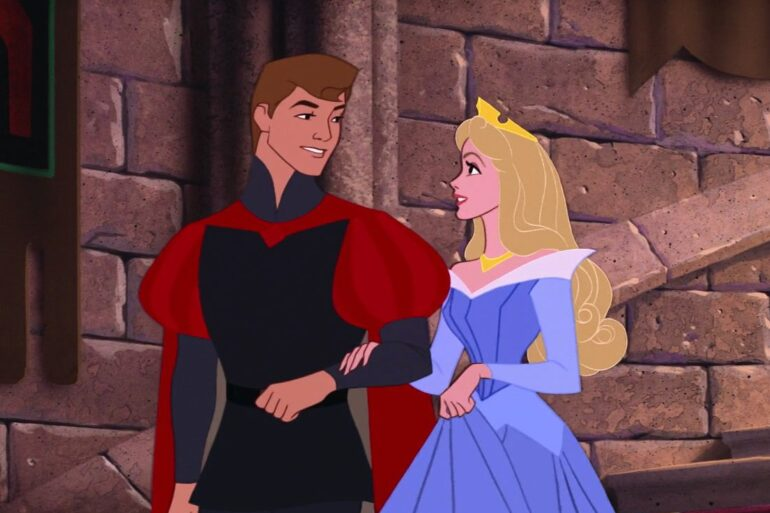 Sleeping Beauty with the prince
