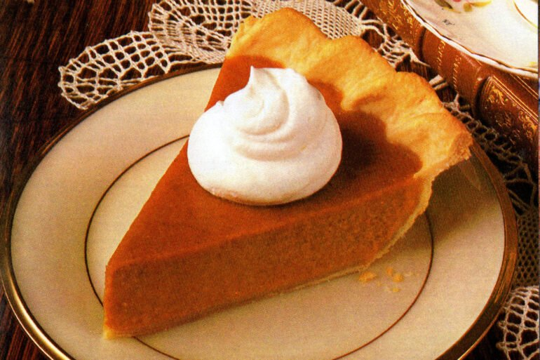 Slice of Libby's pumpkin pie - classic recipe