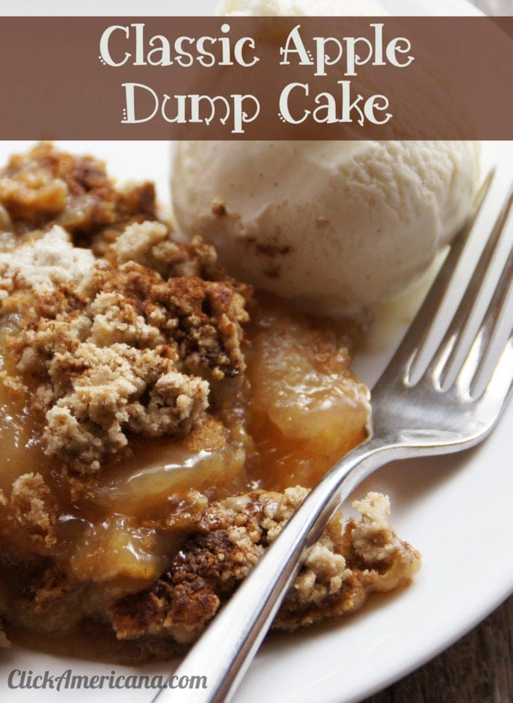 Apple pie dump cake recipe & vintage dump cake how-tos