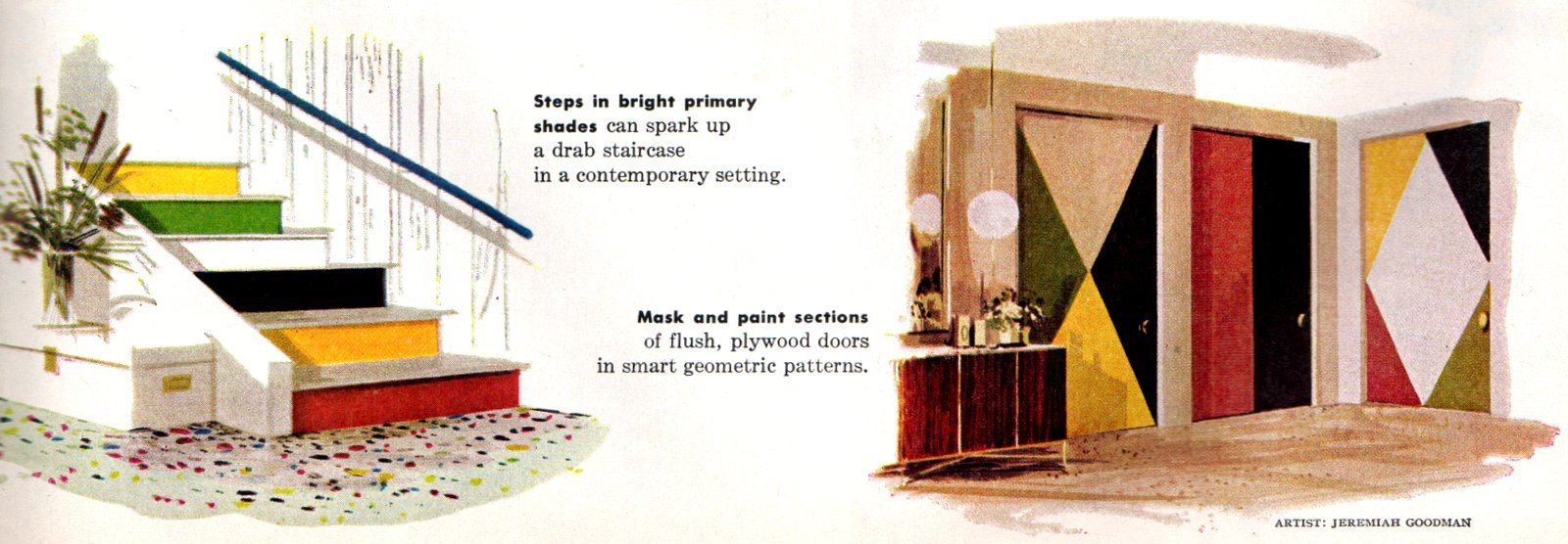 Small painted home accents - Home design and decor from the fifties