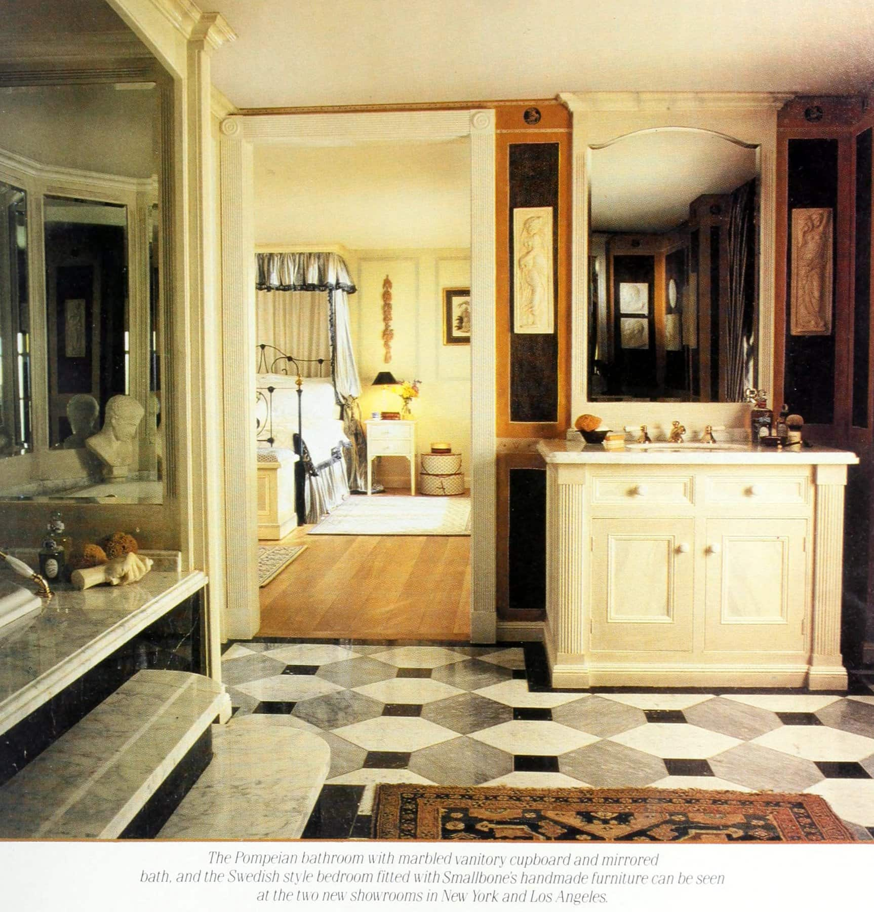 Smallbone Pompeiian bathroom decor (1988)