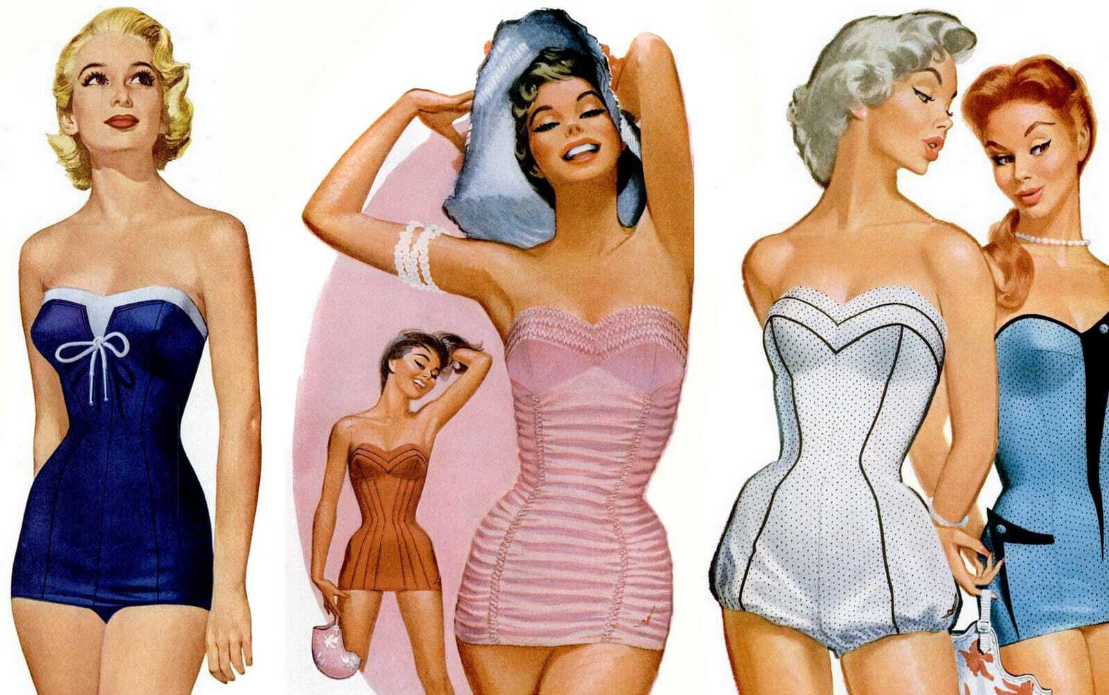 Smart summery 50s swimsuits for women