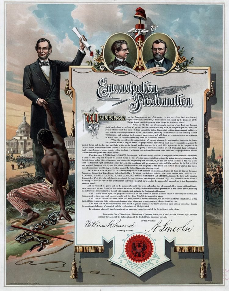 Smith Co. copy of the Emancipation Proclamation