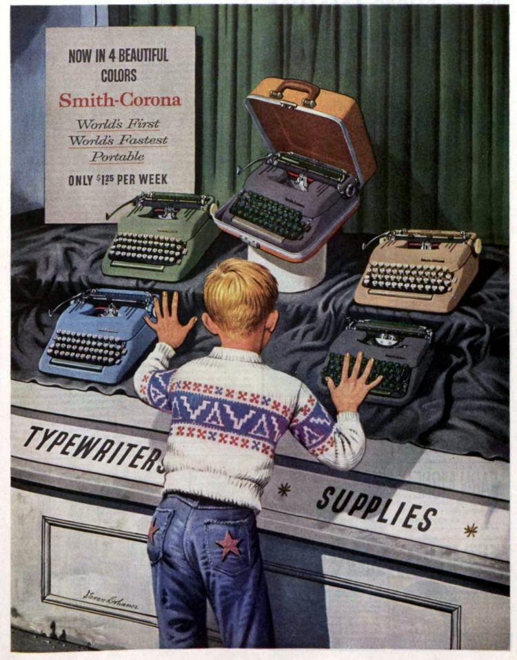 Smith-Corona vintage manual typewriters from 1956 (2)