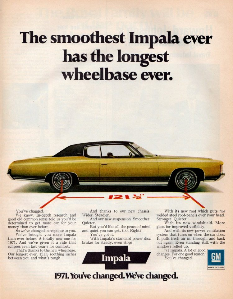 Smoothest Chevy Impala from 1971