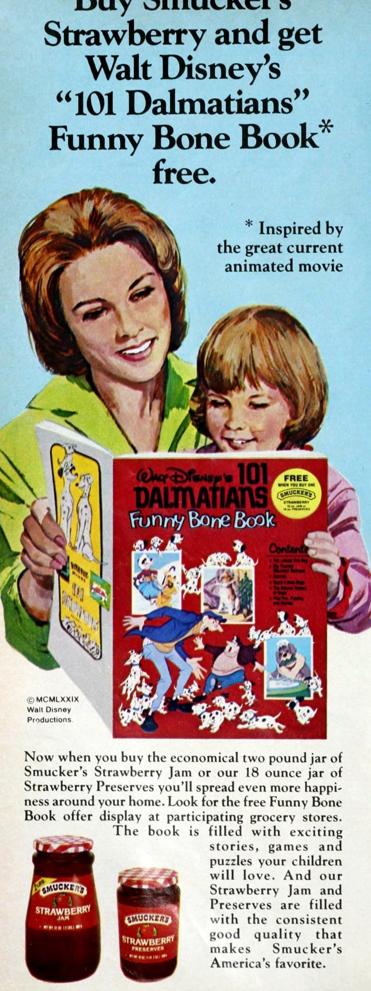 Smuckers Disney offer - 101 Dalmations book (1979)