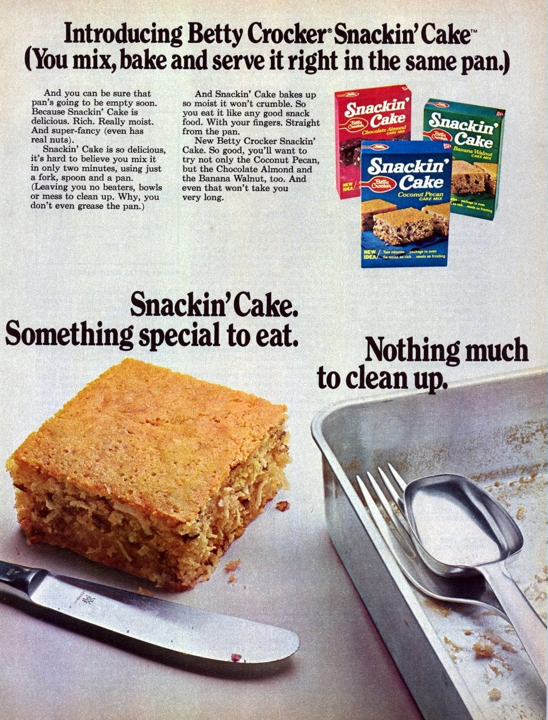 Snackin Cake from 1972