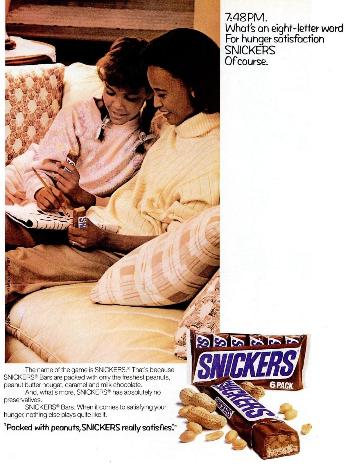 Snickers candy bars 1990