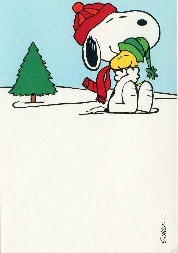 Snoopy hugging Woodstock (Peanuts)