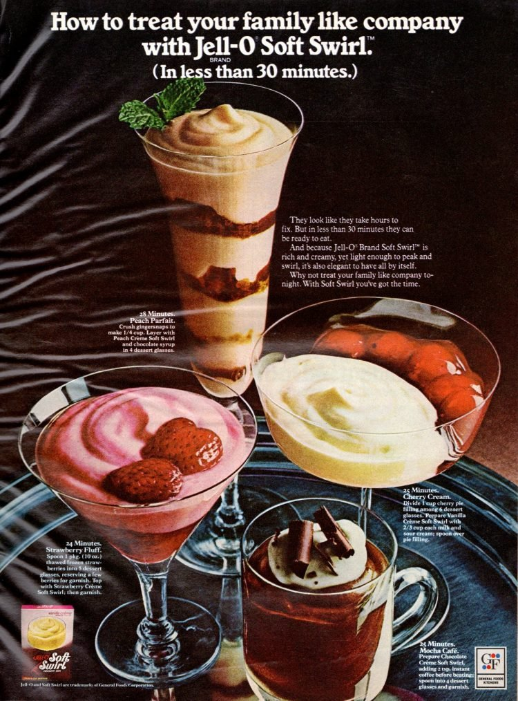 Soft Swirl dessert mix like pudding from 1972